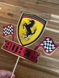 Ferrari Cake Topper Custom Ferrari Topper Formula 1 Topper Etsy