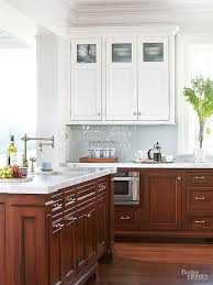 What Color Backsplash With White Cabinets Magnificent Ask Maria About Kitchen Cabinet Uppers And Lowers In Different
