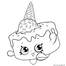 Coloring Pages Shopkins Season 5 Attractive Print Ice Cream For Free