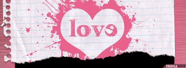 pink love paper heart facebook cover cute valentine images of love preview