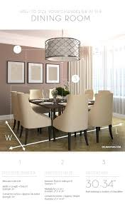 chandelier height above dining table room what size do i typical c