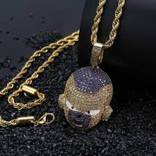 Buy 1 get any other free. Dragon Ball Z Necklaces Iced Out Frieza Supersaiyan Shop