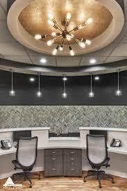 Gold Reception Lighting. Dental Office Design by Arminco Inc.