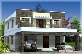 Modern Three Bedroom House Plans 3 Bedroom Modern Flat Roof House Kerala Home Design And Floor Plans