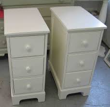 narrow bedside table with drawers. Beautiful Narrow Bedroom  Double White Wooden Bedside Table Having Three Drawer And  Knob Also Short With Narrow Drawers U