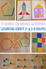 15 fun hands on activities for learning about 2d and 3d shapes