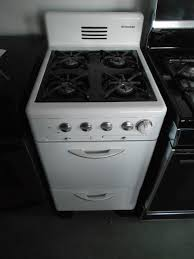 kenmore stove black. appliance city - kenmore vintage 20 inch gas range 4 burner pull out broiler drawer white kenmore stove black