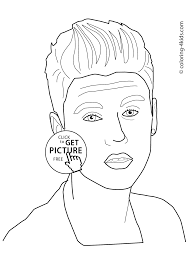 Small Picture Justin Bieber coloring pages for kids printable free coloring