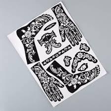 Henna Fashional Dočasné Tetování šablony šablony Samolepky Ruce Nohy Obtisky