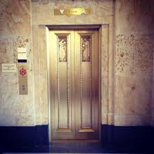 elevator interior door. indiana state library, interior, elevator doors interior door