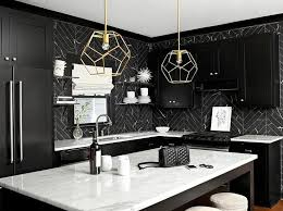 black kitchen cabinets with white marble countertops. Sophisticated Kitchen Noir Cabinets With White Marble Countertops Contemporary In Black | Find Best References Home Design Ideas A