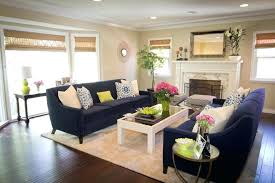 navy blue couches with contemporary table lamps living room and area rug leather couch loveseat