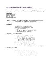 Resume Sample Free Resume Examples Sample For High School Graduate Beauteous Working Student Resume Sample