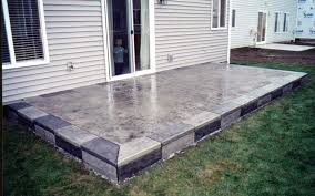 awful easy stone patio installing flagstone patio over concrete
