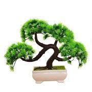office bonsai tree. Bonsai Tree Mini Artificial Plant, Not Faded Office Home Decoration (1 Pcs Green) F