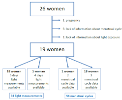 Menstrual Cycle Phases Chart Nocturnal Light Pollution And Clinical Signs Of Ovulation