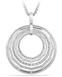 david yurmanstax large round pendant necklace with diamonds