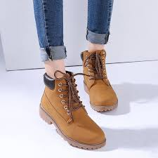 nis women s work boots winter leather lace up outdoor waterproof casual shoes