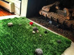 elegant artificial grass rug
