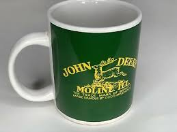 This 16 oz john deere mug in a green body features an individually hand formed handle and rich glaze throughout. John Deere Coffee Mug By Gibson Green Yellow John Deere Cup Moline Illinois 5 38 Picclick