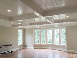 coffered ceiling with v groove