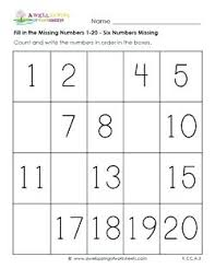 Missing Numbers Worksheets Missing Number Worksheet Kindergarten Kindergarten Counting
