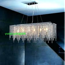 modern crystal chandelier square kitchen light for dining room led chandeliers rectangle lighting hanging ideas chand
