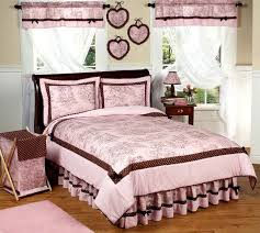 pink and brown french toile and polka dot childrens bedding 4 pc twin set only 119 99