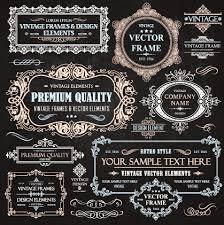 decor elements vine styles vector