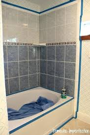 painting a shower can i paint floor tiles white how to refinish outdated tile