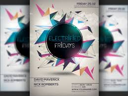 Futuristic Minimal Party Flyer Template By Christos Andronicou ...