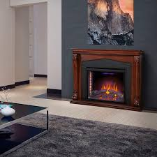 electric fireplace traditional closed hearth free standing nefp33 0314bw
