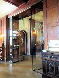 frameless glass fire doors at heritage hotel glass doors by ion glass