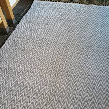 cotton patterned rug grey chevrons