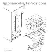 ge wr72x240 refrigerator drawer slide rail appliancepartspros com part diagram