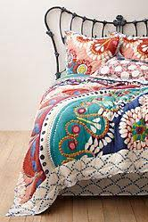 Bohemian Multicolored Moroccan Quilt &  Adamdwight.com