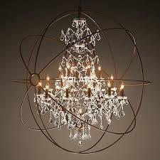 real candle chandelier lighting modern vintage orb crystal rustic chandeliers led pendant hanging light for home