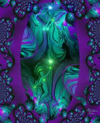 purple wall decor abstract art third eye spiritual guide