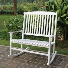 outdoors rocking chairs. Outdoor Rocking Chair Double Patio Garden Seat Wide Solid Wooden Porch Rocker Outdoors Chairs