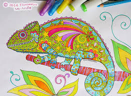 Small Picture Groovy Animals Coloring Pages Chameleons