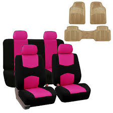 pink black 2 row car seat covers w all