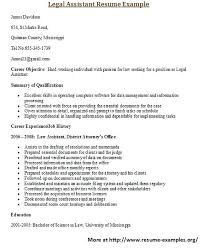 Objective For Legal Assistant Resume Sample Legal Assistant Resume For More And Various Legal Resumes 58