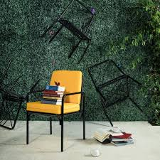 stori modern fairy tale dining chairs in black with sunflower