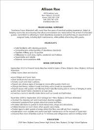 Resume Templates: Room Attendant