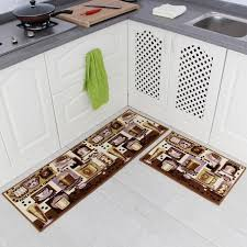 coffee design kitchen rugs with carvapet piece non slip mat rubber backing doormat runner rug runners skid long floor x matching and backed pad foot