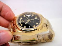 rolex all gold oyster band day date black face men s watch gift at rolex all gold oyster day date men s watch closeout th jpg
