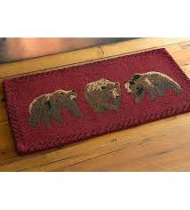 plow and hearth rugs hand hooked wool area rugs plow hearth bear hand hooked wool area plow and hearth rugs catalog spree knot wool