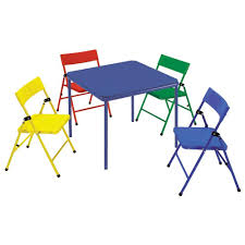 Kid\u0027s Folding Chair and Table Set in Multiple Cosco 24 in. x