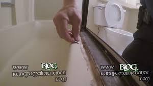 how to remove really bad tub shower door enclosure caulking repair maintenance you