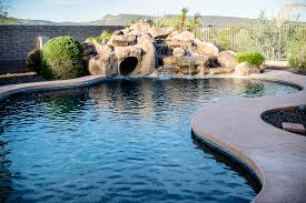 Exellent Pool Designs With Waterfalls And Slides Arizona New Image Best Custom Builders Inside Innovation Design